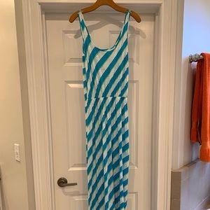 Lilly Pulitzer Tria Maxi in Turquoise Roper Stripe